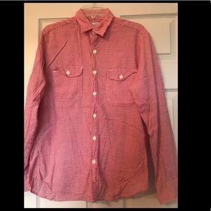 JCrew boyfriend-style gingham shirt